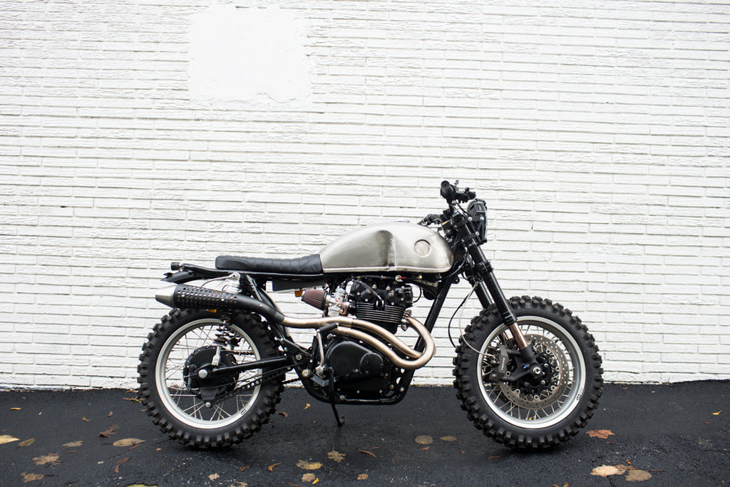 Brother Moto Custom CB450 scrambler - The little badger