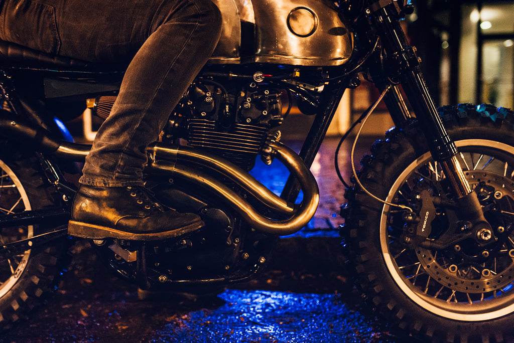 Custom CL450 scrambler exhaust