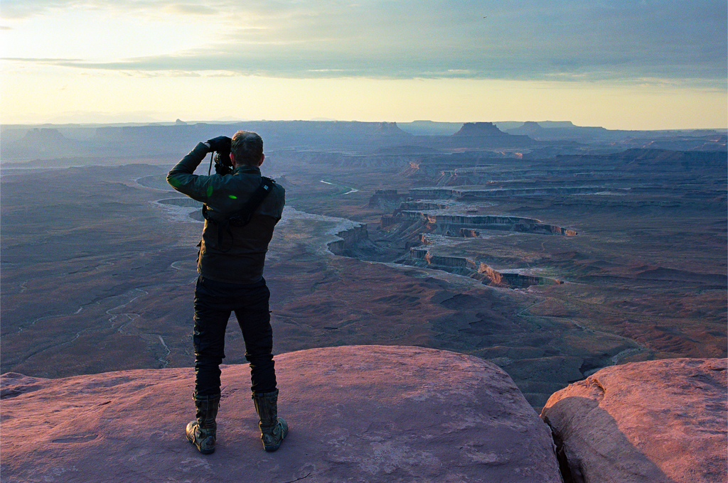Taking photos at Canyonland - jared erickson