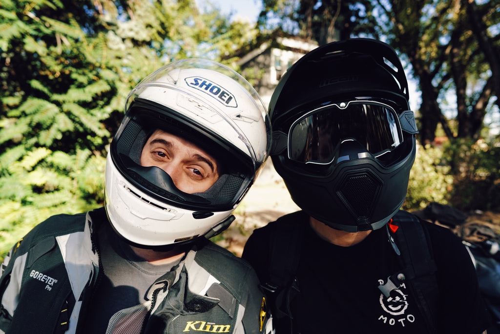 Blaine Hale - Jared Erickson - two dudes with motorcycle helmets