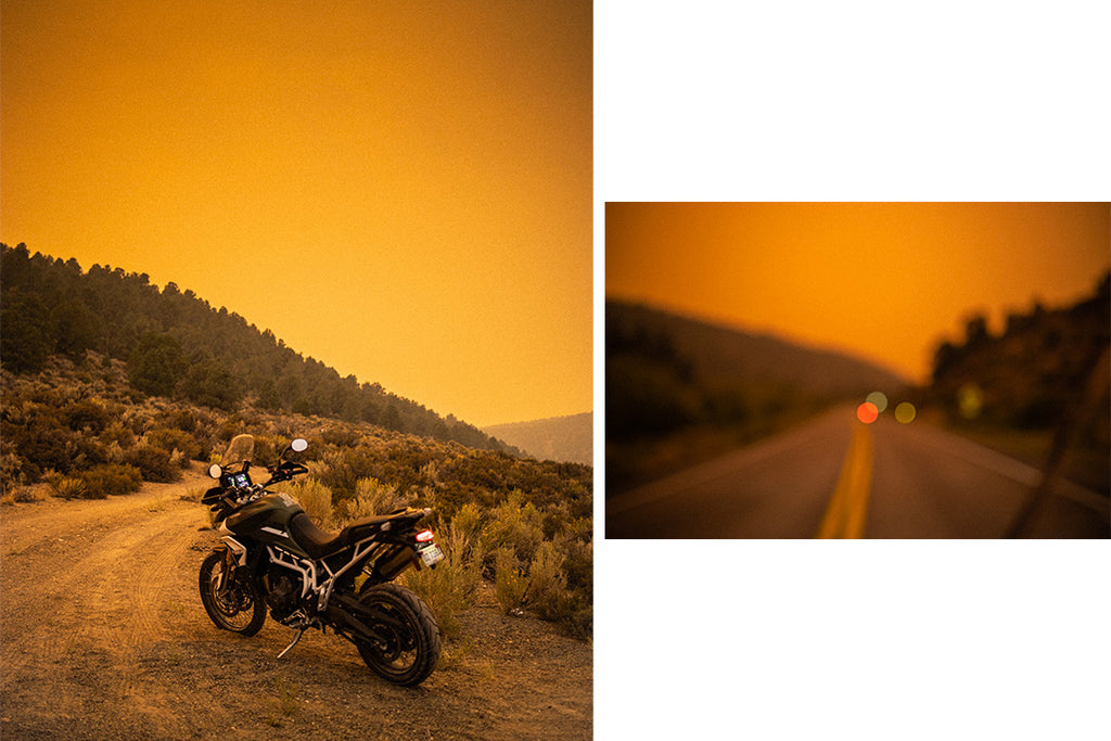 Riding Motorcycles during California wild fires