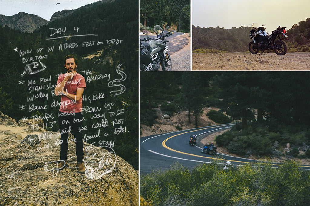 Motorcycle trip in california