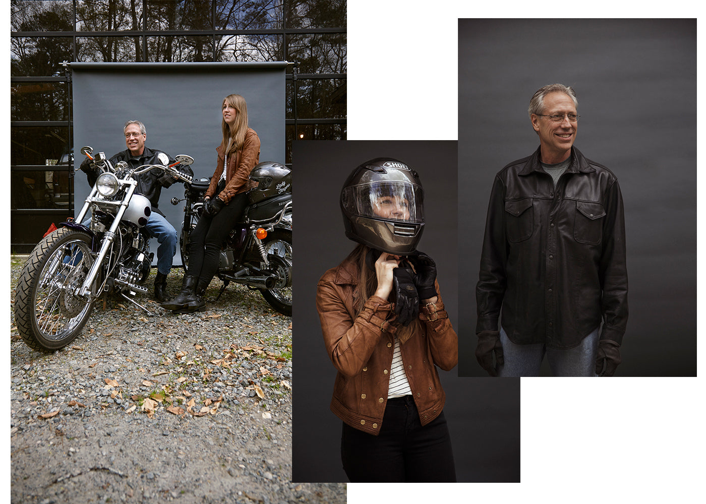 Father and daughter motorcycle ride