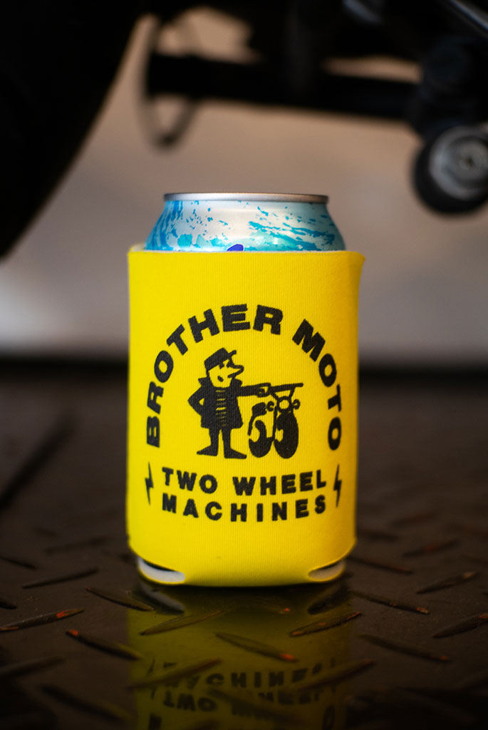 Two wheel machine Koozie