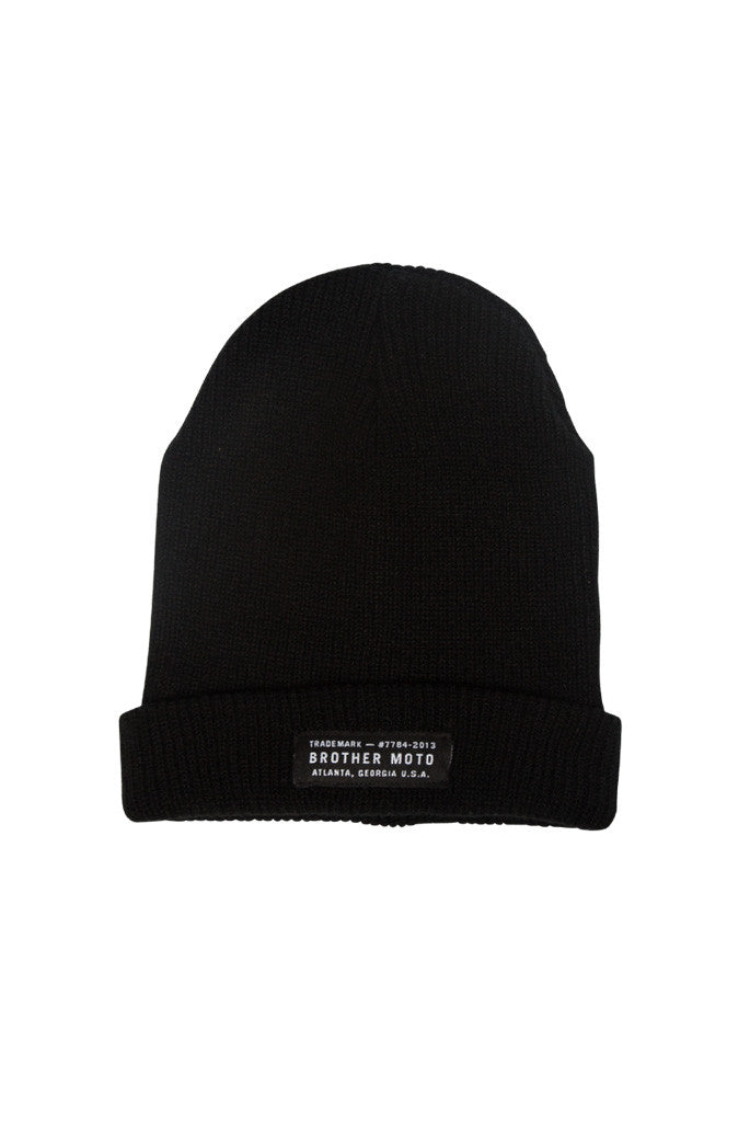 Heritage Beanie - Black - Motorcycle lifestyle goods Brother Moto