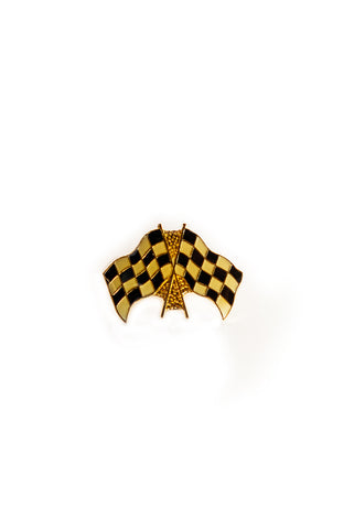 Vintage Racing Flags Enamel Pin
