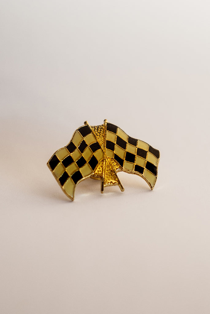 Vintage Racing Flags - Enamel Pin