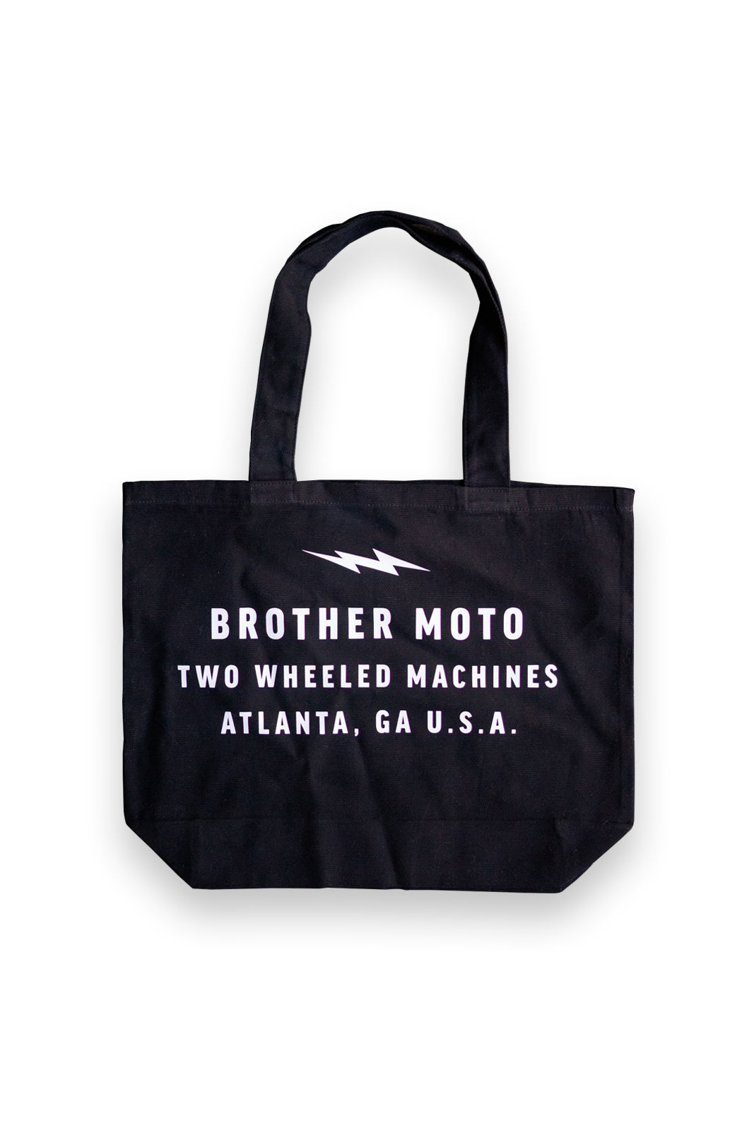 Brother Moto Tote bag white text