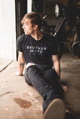 The Classic Tee - Black - Motorcycle lifestyle goods Brother Moto - 2