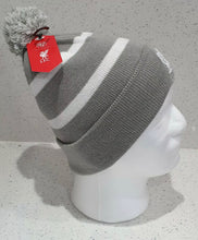 Load image into Gallery viewer, Liverpool Grey and White Bobble Hat