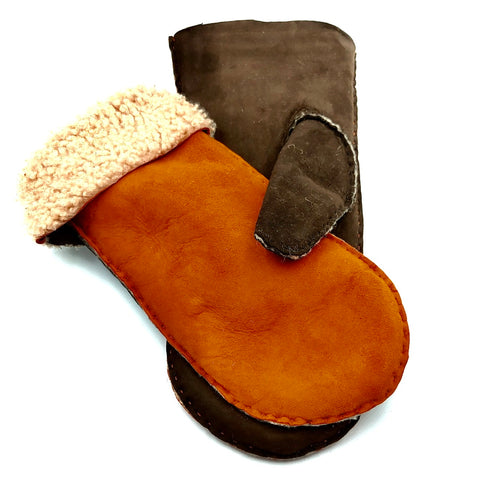 Mittens - Orange/Mocca