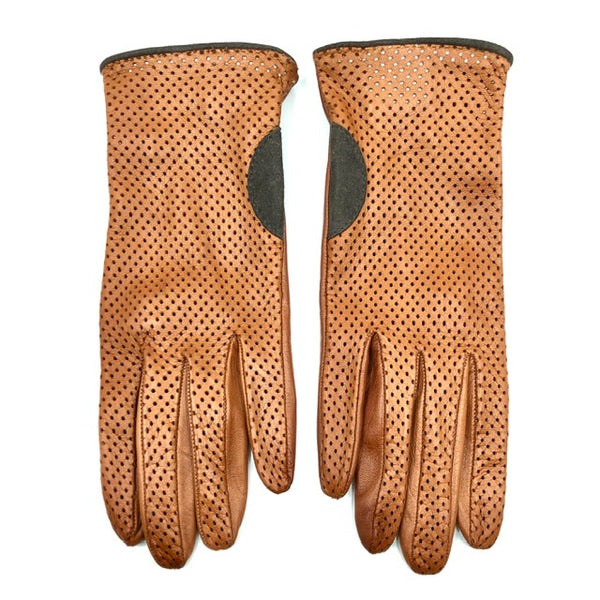 Unlined leather gloves - Coloniale/Mocca