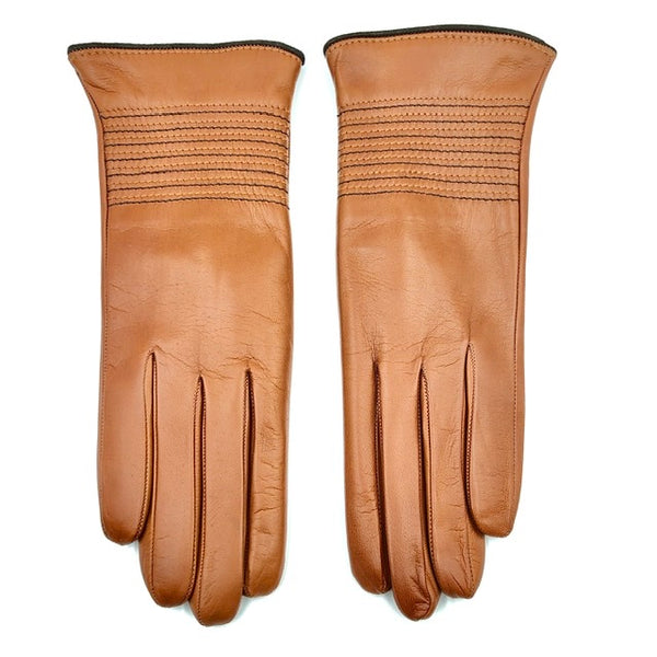 Cashmere lined leather gloves - Coloniale/Mocca
