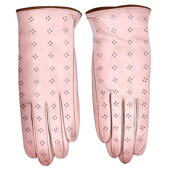 Unlined leather gloves - candy Pink