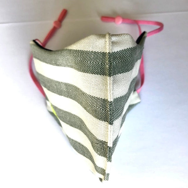 Eco friendly reversible (4-layers) face mask stripes LADY