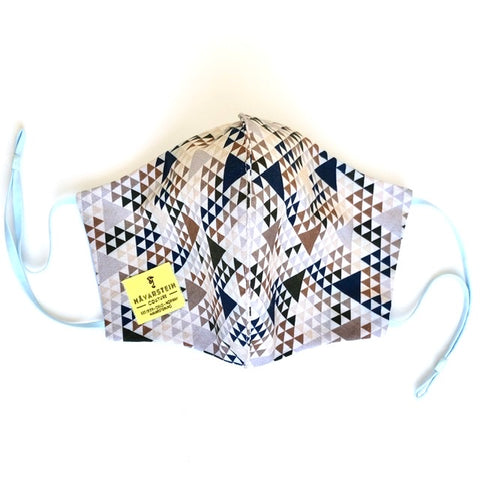 Eco friendly  reversible (4-layers) face mask triangle LADY