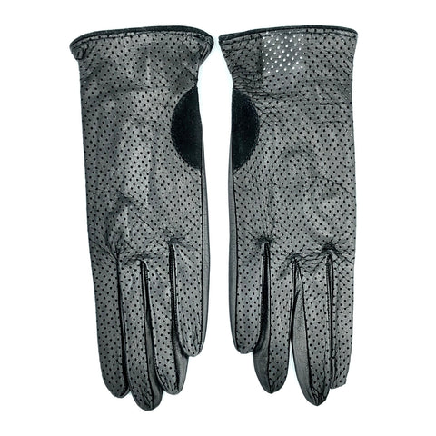 Unlined leather gloves - Black