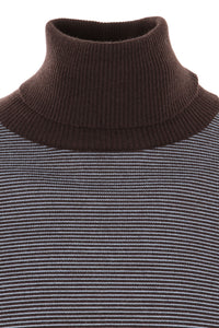 Turtleneck - Mocca/Light Blue