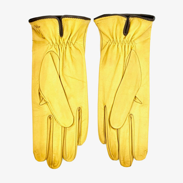 Unlined leather gloves - Yellow