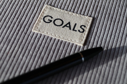 Setting Goals Notebook And Pen