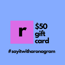 Load image into Gallery viewer, fifty dollar gift card for ronagrams valentines