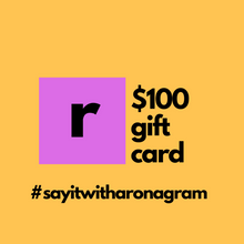 Load image into Gallery viewer, 100 dollar gift card for ronagrams valentines