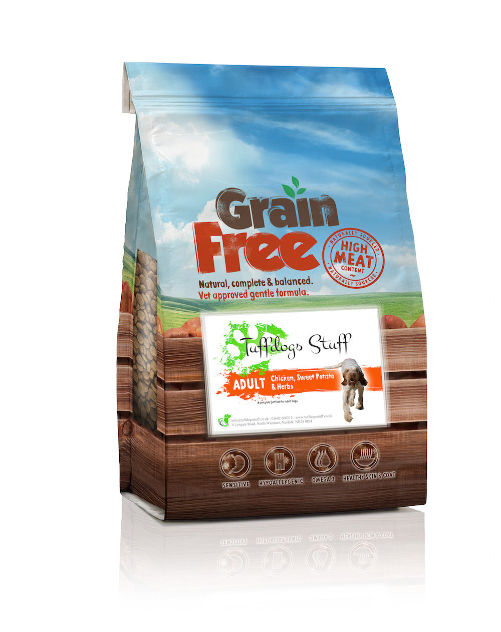 Grain Free Chicken, Sweet Potato & Herbs Adult Dog Food - Free Delivery!
