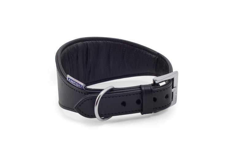 Ancol Greyhound Padded Leather Collar