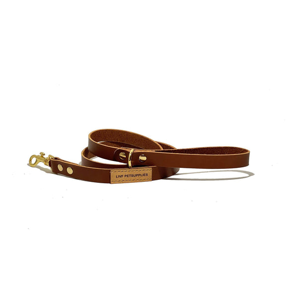 Basco City Leash - Cognac-LIVF - Pet Supplies