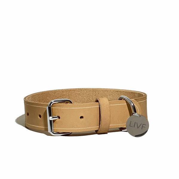 Basco Dog Collar - Nude-LIVF - Pet Supplies