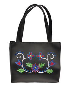 Wabigon Shoulder Tote in 'Red/Blues'