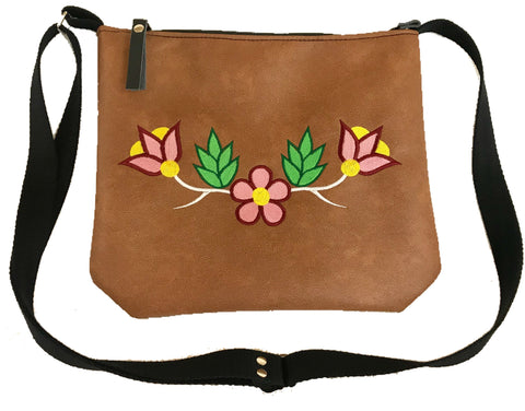 Niibin Mini Purse in Lightweight Tan Vinyl - Pink