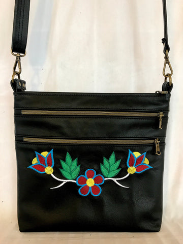 Double Zipper Cross Body