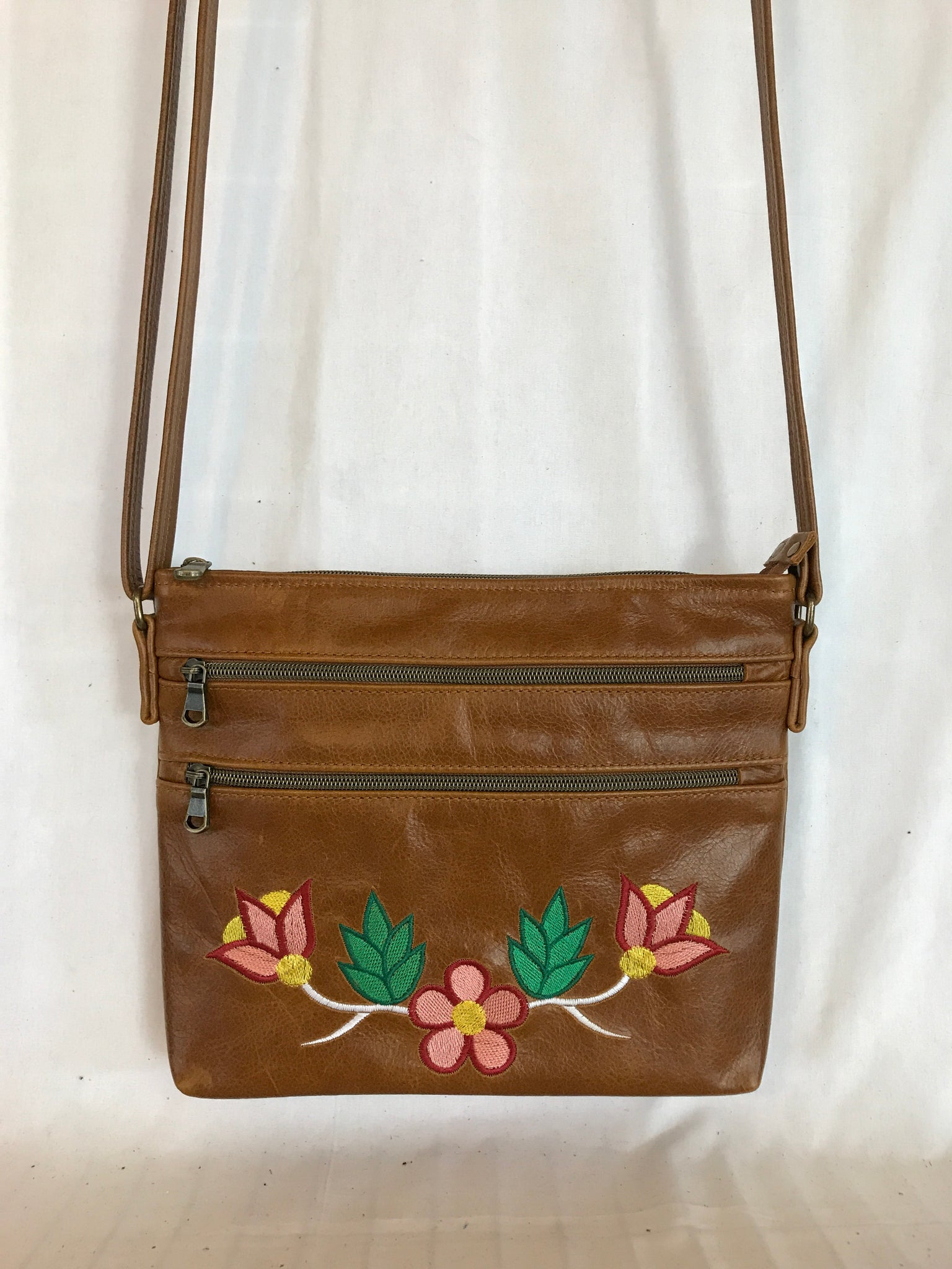 Tan Leather Cross Body Purse