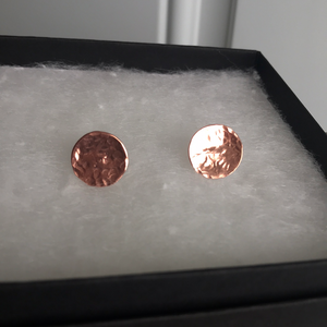 Hammered Copper Studs 10mm