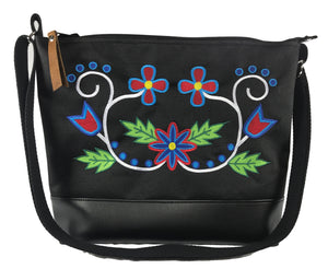 Wahbigon Cross Body Purse - Red Blues