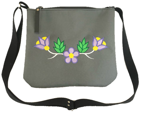 Niibin Mini Purse in Charcoal Grey - Purple