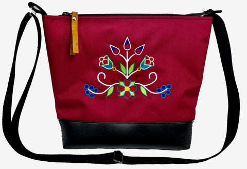 """Little Sister"" - 'Ziigwan' Cross-body Purse in Red"