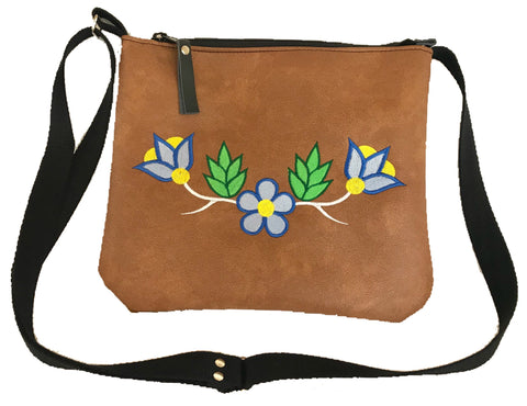 Niibin Mini Purse in Lightweight Tan Vinyl - Blues