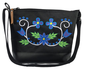 Wahbigon Cross Body Purse - Blue and Purple