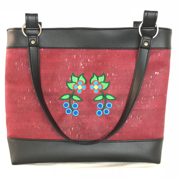 Deep Raspberry Red Tote Style