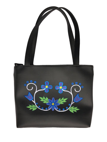 Wabigon Shoulder Tote in 'Blues/Purple'