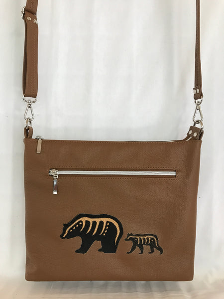 Tan Brown Bear Bag Cross Body