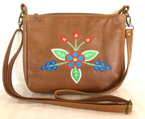 Classic Cross Body in Tan Leather