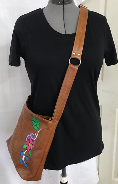 *PRE-ORDER* Please see details 'NiiGiiwe' Medium Brown Leather Cross Body Purse