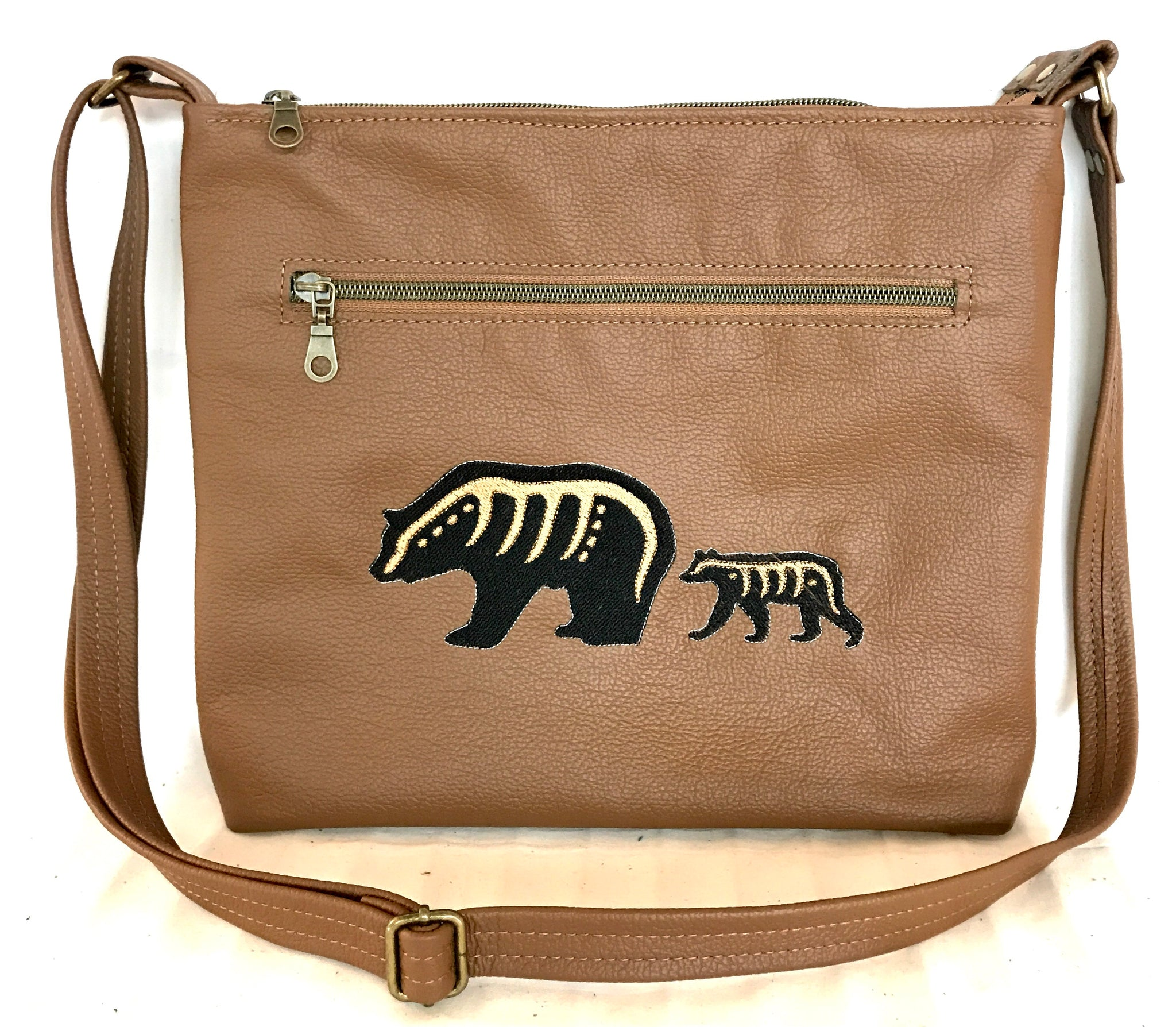 Tan Makwa Cross Body Purse