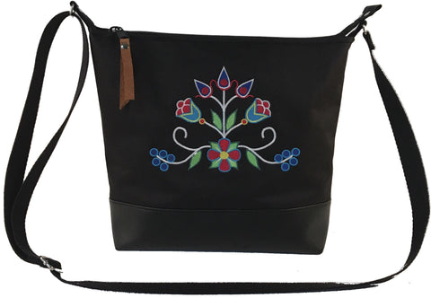 'Ziigwan' Cross-body Purse in Black