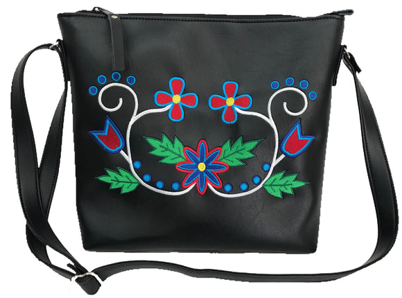 Wabigon Cross Body in Red & Blues