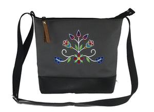 'Ziigwan' Cross-body Purse in Charcoal