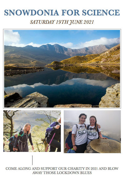 NEWS:-  SNOWDONIA FOR SCIENCE FUNDRAISING 2021